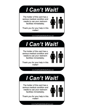 printable emergency bathroom card