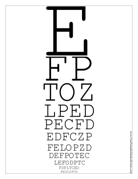 It is a graphic of Impeccable Printable Snellen Eye Charts