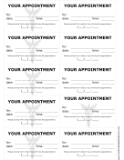 Doctor Appointment Treatment Reminder Cards